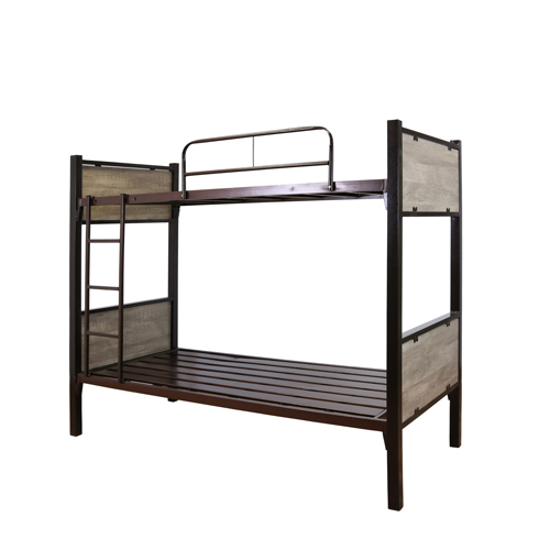 BUNK METAL BED WITH OAK