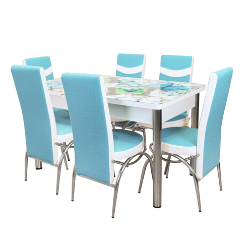 DINING SET WITH PRINT