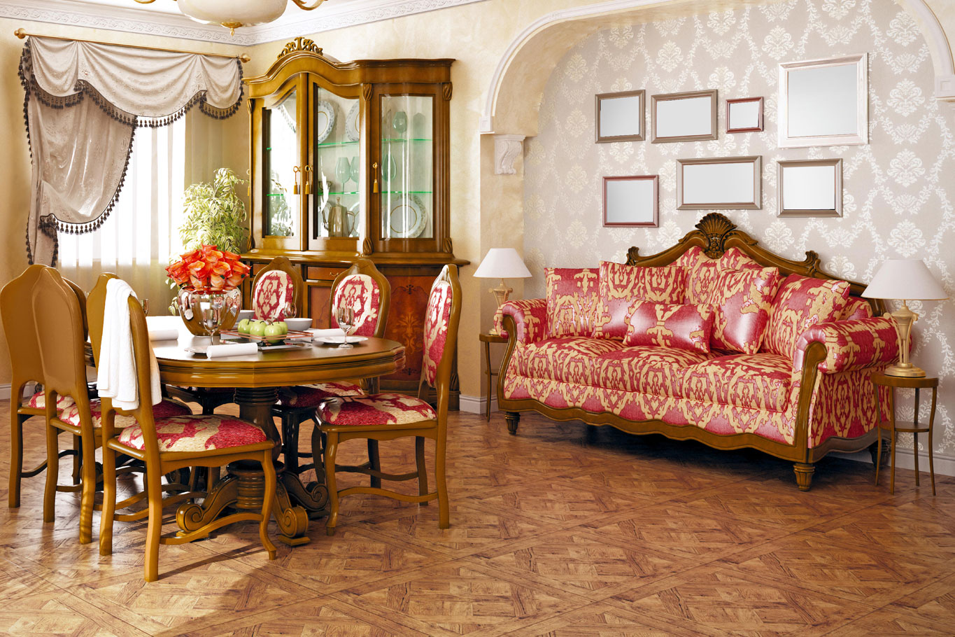 Oriental style furniture