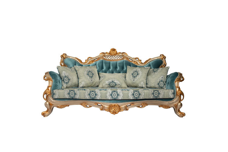 SOFA QUILTED WITH DECORATIVE CUSHIONS
